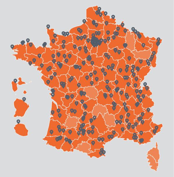 Carte des 3 routes les plus dégradées par département